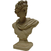 Vintage Drabware Bust, Classical Figure, Andrea