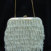 Vintage Hand-Made Beaded Evening Purse, Hong Kong