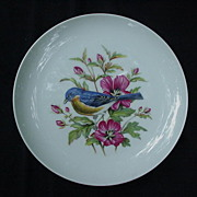 Mottahedeh Eastern Bluebird Porcelain Plate