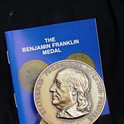 Ben Franklin Medal 1986 U.S. Capitol Historical Society