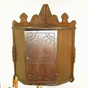 Victorian Corner Cabinet, Two Interior Shelves, East Lake Influence