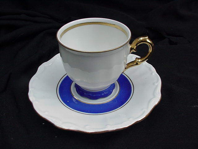 Bareuther Bavaria Porcelain Demitasse Cup and Saucer