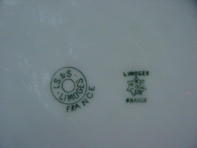 L S Amp S Limoges France Porcelain Plate Highly Decorative
