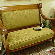 Edwardian or Belle Epoque Upholstered Settee