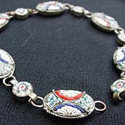 Micro-Mosaic Bracelet, Six Ovals, Six Circles