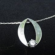 Sterling Silver Necklace with Kathryn Kinev Pendant