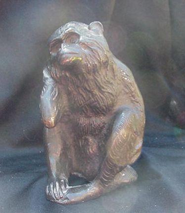 "Vintage Monkey Figure, ""Hear No Evil"", Bronze Finish"