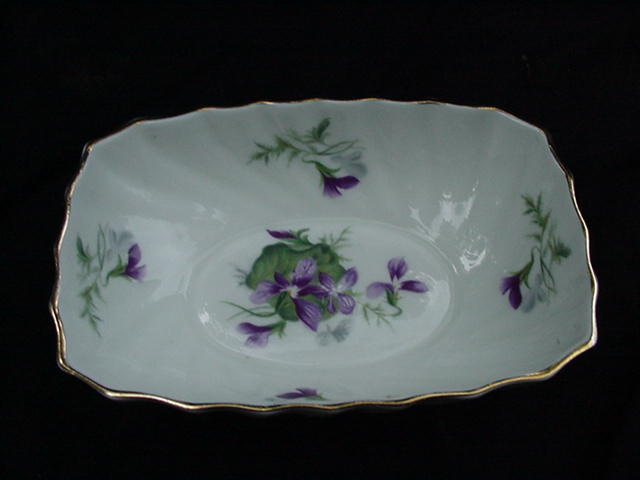"Royal Adderley ""Violets Bouquet"" English Bone China Bowl"