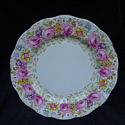 Royal Albert English Bone China Dessert/Salad Plate, Serena,  Rose Border