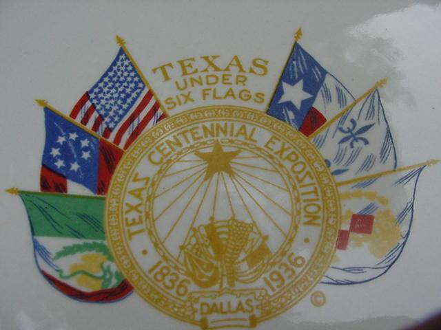 Rare Souvenir Texas Centennial Exposition Plate 1836-1936