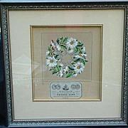 19th C. Hand-Colored Print of Needlepoint Pattern, Maison Sajou, Paris