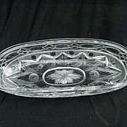 Brilliant Period Cut Glass Celery Dish