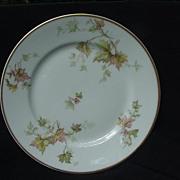 Haviland's Autumn Leaf Salad or Dessert Plate, Gold Rim