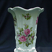 "Old Foley, James Kent, England Vase, ""Harmony Rose"" Pattern"