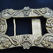 Art Nouveau Brass Belt Buckle