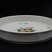 Royal Kent Porcelain Quiche Dish, Fruit Decorated Center