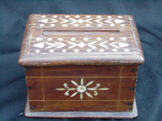 Hand-Made Box, Bone Inlay Designs