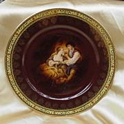 Carlsbad Fine Porcelain Plate Czechoslovakia w Flag & Beehive Marks