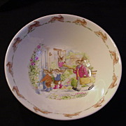 Royal Doulton Bunnykins Cereal Bowl, Rabbit Family