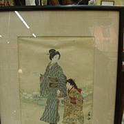 1894 Japanese Woodblock Print, Shumko