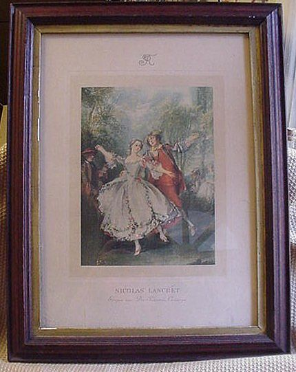 Nicholas Lancret, French 18th C., Plate Engraving of the Dancer Camargo