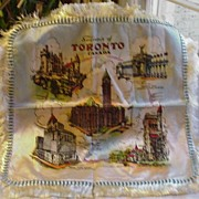 Woven Silk Toronto Souvenir Scarf w City Landmarks