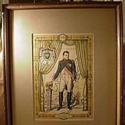 Perveaux Hand-Colored Print, Napoleon I