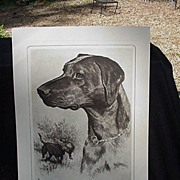 R.H. Palenske Dog Etching, Black Labrador