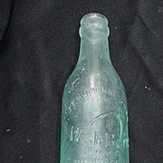 Wishbone Brand Beverage Bottle w Embossed Letters, Wishbone