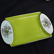 Beautiful Two-Handled Carlton Ware Tray w Fruit Basket Motif