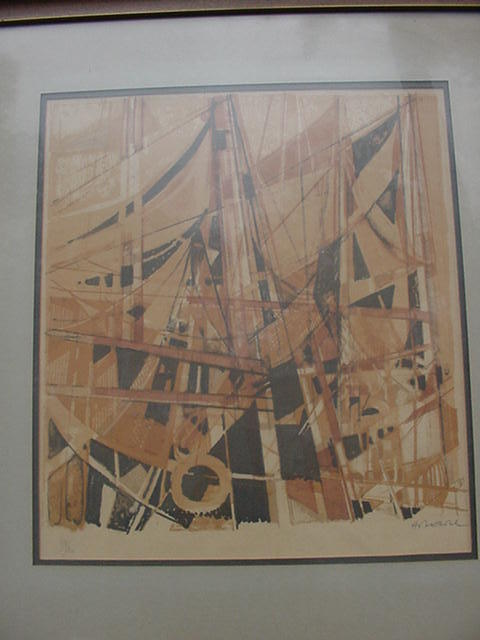 "Camille Hilaire Signed and Numbered Original Lithograph, "" Honfleur"" 60 of 120"