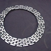 Givenchy Vintage Silverplated Runway Collar  Necklace,