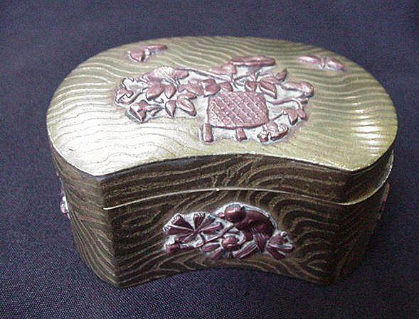Japanese Mixed Metal Box, Copper & Brass