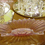 Fostoria Heirloom Console Bowl, Opalescent Pink