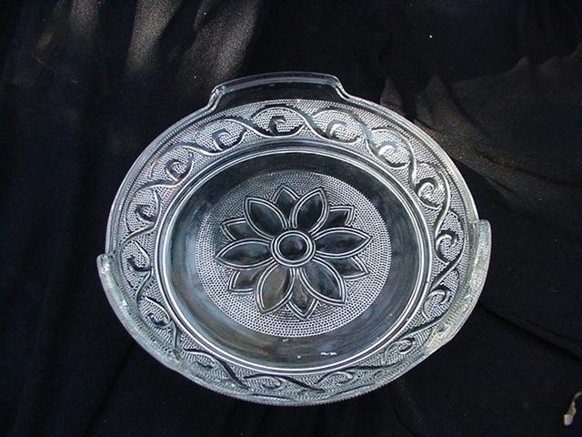 Vintage Sandwich Glass Pattern Lemon or Condiment Dish