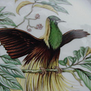 Mottahedeh, Portugal Emperor of Germany's  Bird of Paradise Plate