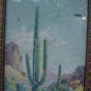 1930 Original Art,  Mae de Ville, Giant Cactus