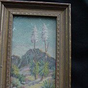 1930 Original Art by T. Mae de Ville, Flowering Yucca