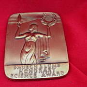 Bausch & Lome Honorary Science Award Medal