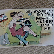 Comical Postcard 1930s, Boarding House Humor