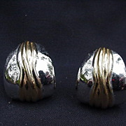 Vintage Ciner Silver and Gold-tone Clips
