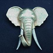 Vintage J.J. Elephant Head Brooch