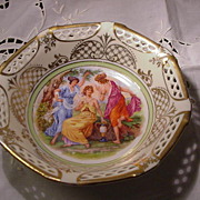 Schwarzenhammer Bavaria, Germany U.S. Zone Bowl w Figural Decoration