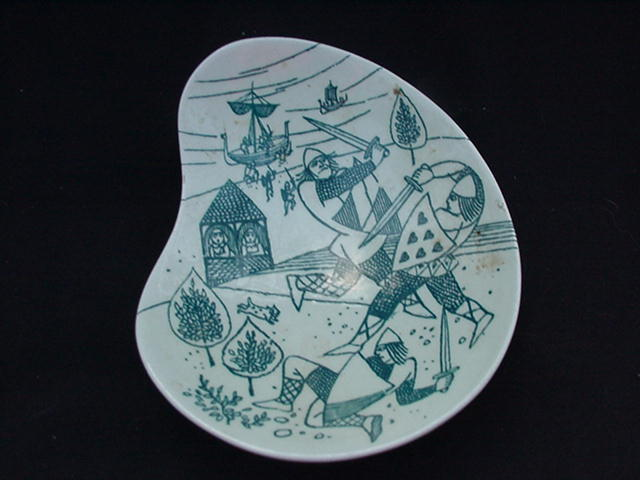 Nymolle Art Faience Hoyrup Ltd. Ed. Nut Dish, Denmark
