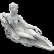 Rosenthal Porcelain Figurine of Reclining Nude, German Sculptor, Bredow