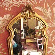 Vintage Giltwood, Florentine Mirror, Shield Shaped