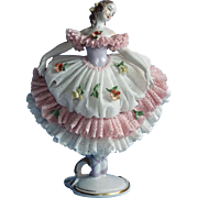 Volkstedt Dresden Lace Lovely Ballerina Porcelain Figurine