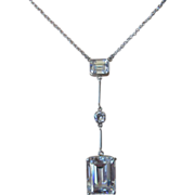 Exquisite Sterling Silver Multi Cubic Zirconia Necklace