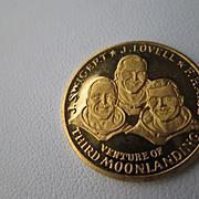 22kt  Gold Apollo X111 Commerative Coin