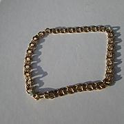 14kt Yellow Gold Vintage European Handmade Double Circular Link Ladies Bracelet
